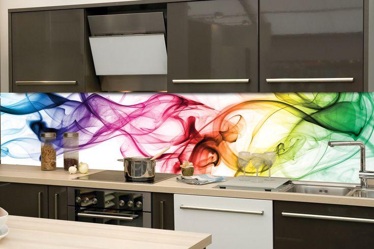 Abstraktná fototapeta v kuchyni. Skvelé riešenie pri renovácií kuchyne.