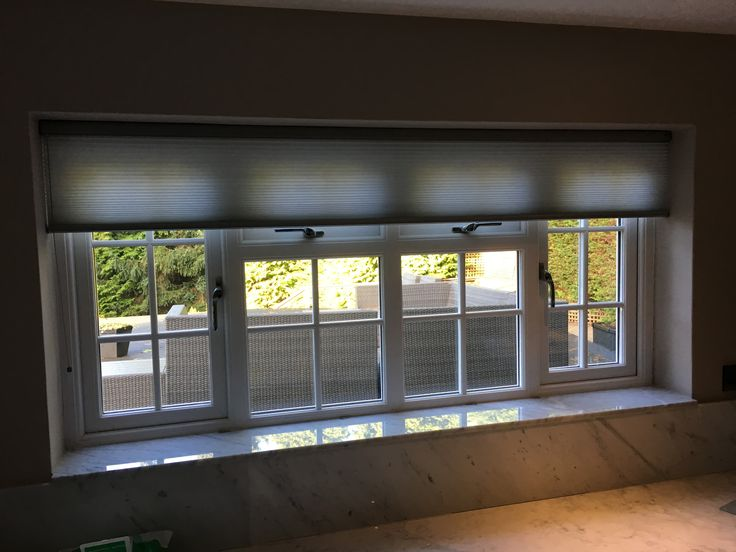 Duette blind for contemporary look in modern kitchen by Think Blinds.