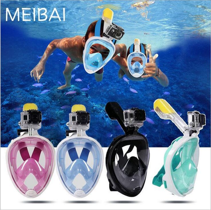 [Visit to Buy] Drop Shipping-8 days-USA UK AU Full Face Scuba Diving Mask Gopro Camera Diving Mask Snorkel Underwater Scuba Anti Fog Snorkeling #Advertisement