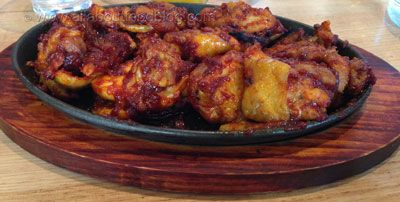 This Chilli BBQ Chicken is super hot!! The restaurant is called Jeans Chilli Chicken Steaks
