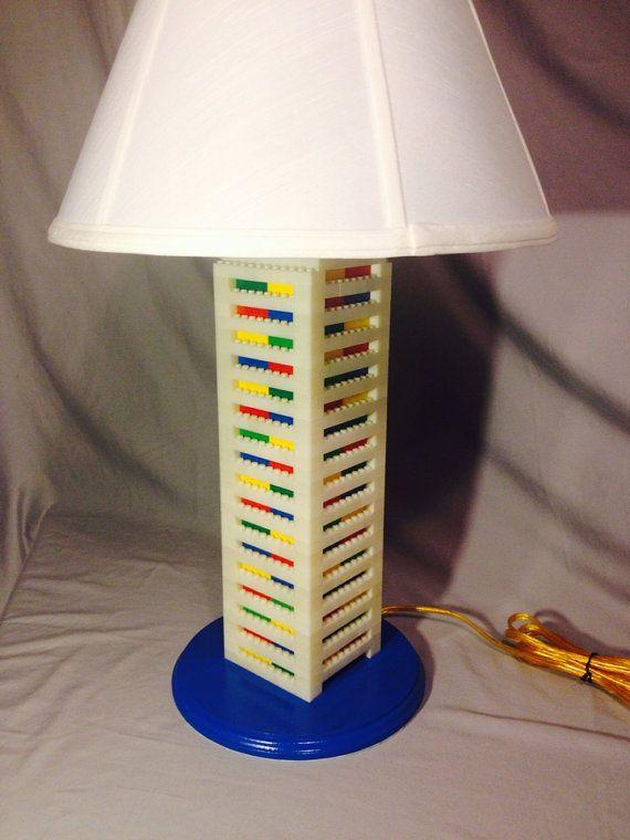 LEGO lampe XXL grand haut blanc & multicolore
