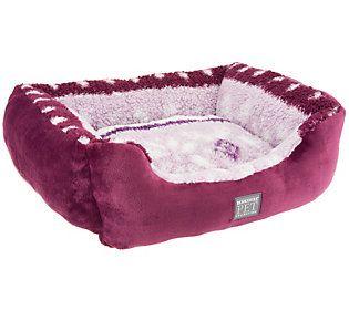 Berkshire Velvet Soft Amp Printed Sherpa Large Pet Bed