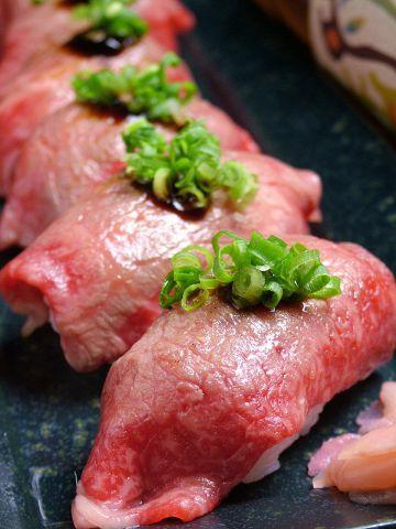 Japanese beef sushi(霜降りにぎり)