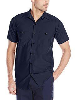Red Kap Men's Industrial Short-Sleeve Work Shirt   Easy Buy
