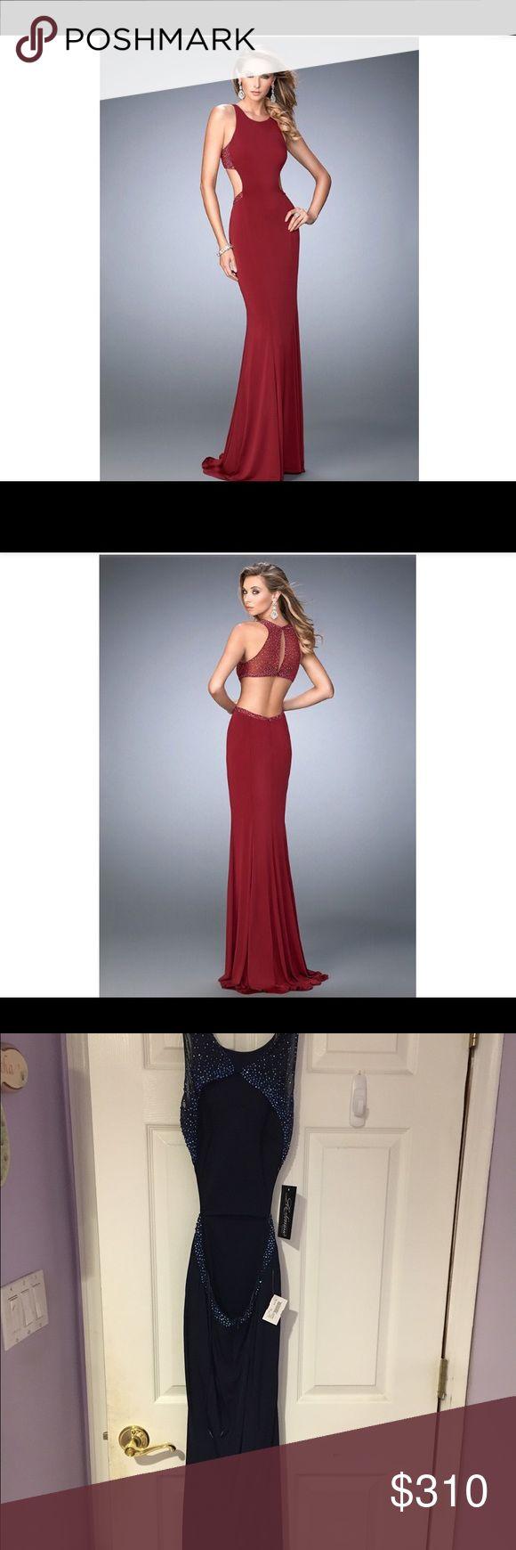 La femme prom dress Brand new, tags still attached, never worn. La femme prom dress in navy blue size 0-1 La Femme Dresses Prom