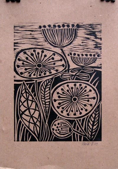 Image Spark - Image tagged lino cut, printmaking, birds - lologill