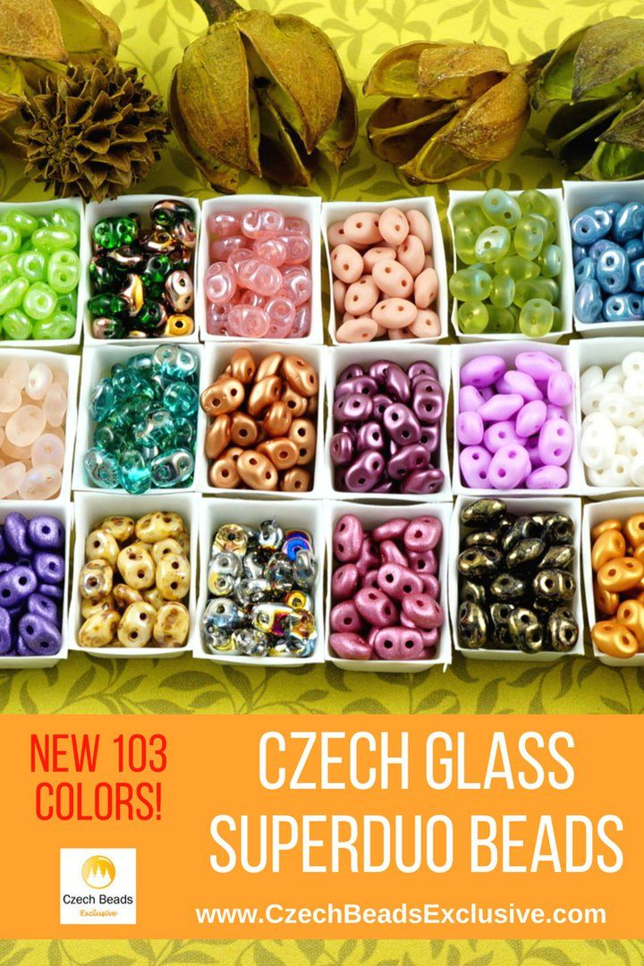 Czech Glass SuperDuo Beads  New 103 Colors! - Buy now with discount!  Hurry up - sold out very fast! www.CzechBeadsExclusive.com/+superduo SAVE them! ??Lowest price from manufacturer! Get free gift! 1 shipping costs - unlimited order quantity!  Worldwide super fast ?? shipping with tracking number! Get high wholesale discounts! Sold with  at http://www.CzechBeadsExclusive.com #CzechBeadsExclusive #czechbeads #bead #beaded #beading #beadedjewelry #handmade #etsy #dawanda #amazon #diy…