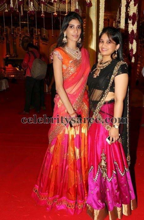 Girls in Shimmer Half Saree