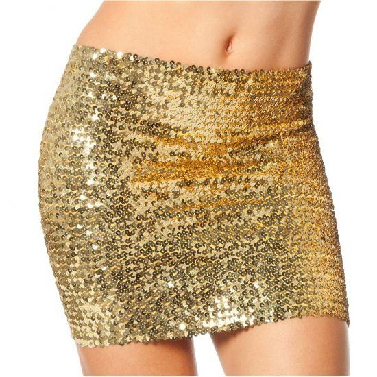 Gouden top/rok met pailletten. Multifunctionele gouden top, deze kunt u ook als rok dragen. Geschikt voor dames.