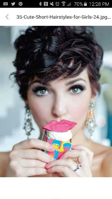 Short Cut With Curls Hair Ideas Pinterest Short Cuts