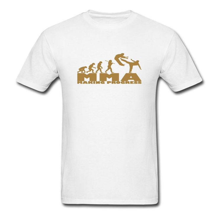 Gold Print MMA T Shirt - Ideal for Gym Training