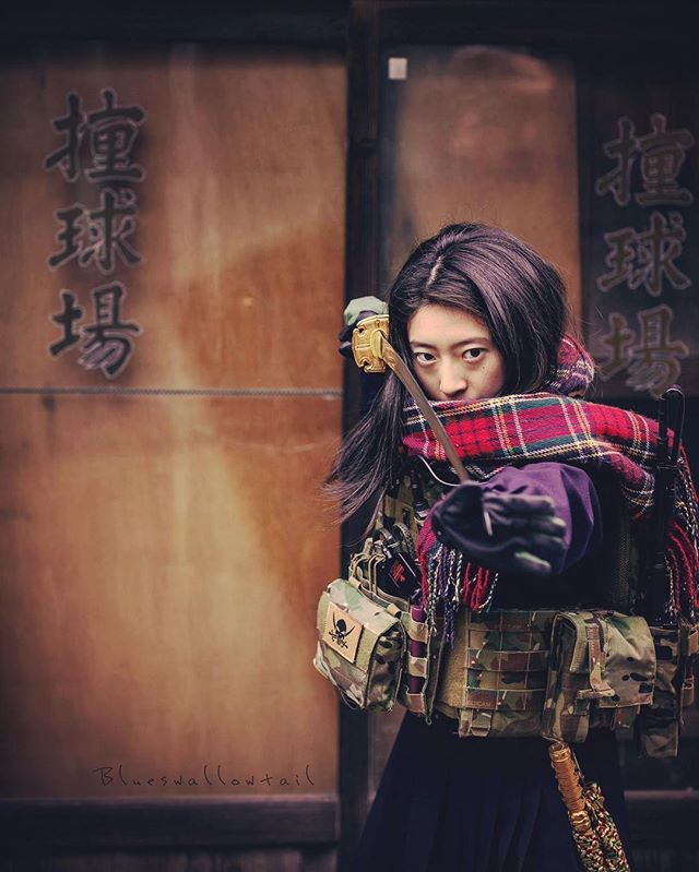 "WEBSTA @ blueswallowtail - Have confidence in one's own abilities. "" The Katana"" High-school girl #Benchmadeknives #benchmade #butterflyknife #Balisong  #kali #budo #japanesesword #katana #katanagirl #bushido #samurai #shinobi #ronin #tactical #everydaycary #cqb #multicam #cryeprecision #crye #combatives #japon #japan #tokyo #winter #ig_japan #jk #highschoolgirls #highschool #highschooldays #japanesefashion"
