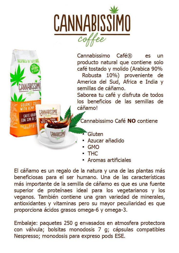 Cannabissimo café con semillas de cáñamo