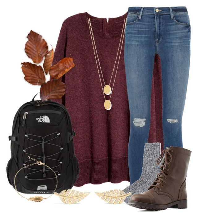 contest entry by marthaswilliams on Polyvore featuring polyvore fashion style Frame Denim J.Crew Charlotte Russe The North Face Jennifer Meyer Jewelry Jennifer Zeuner clothing