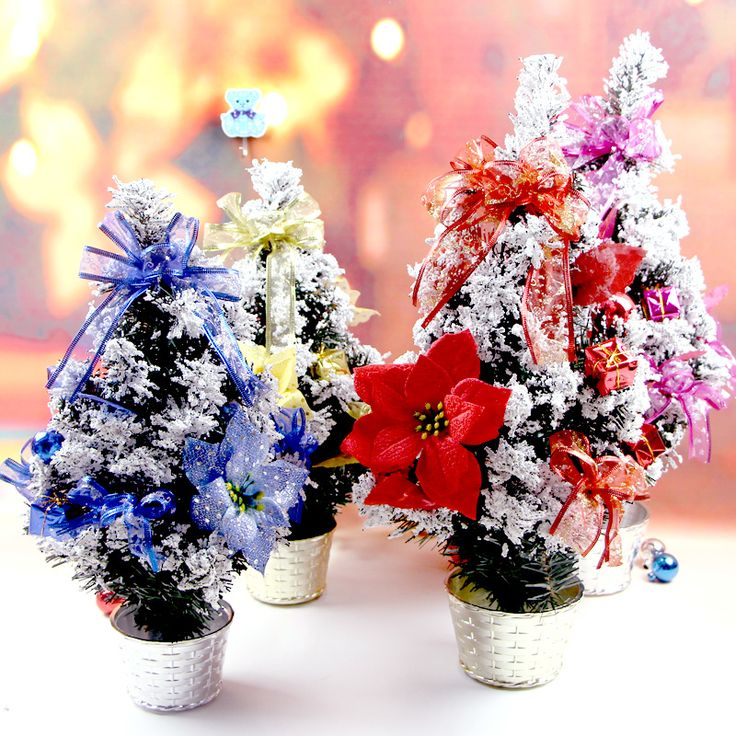 ==> [Free Shipping] Buy Best Christmas decoration products Potted tree ornaments Mini Christmas tree Snowflake tree flower pot Decorate the Christmas tree Online with LOWEST Price | 32758341518