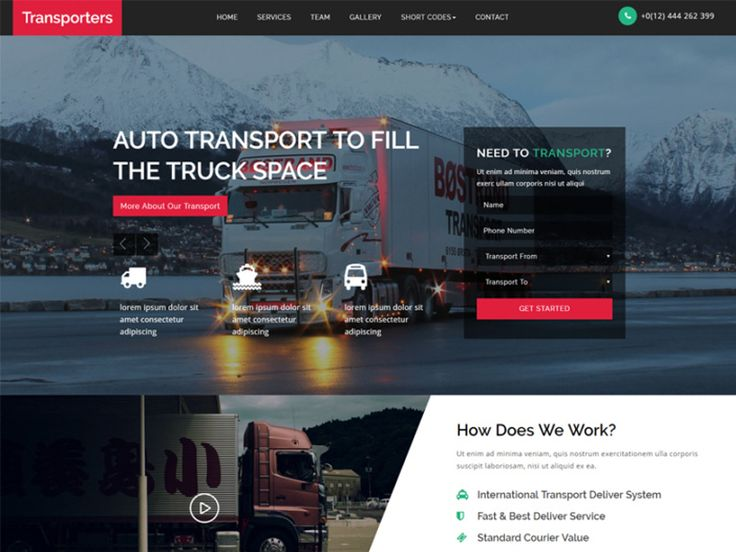 Transporters is a clean and modern Free Transport Website Template for all your logistics and transport related websites in order to boost your profits and expand your business around the world via online by using this modern and smartly designed template. This elegantly designed template is also a perfect choice for all your websites like cargo, shipping, Warehouse, trucking, freight business sites, air freight, ocean freight, Architects, Engineers, home movers business, storage service…