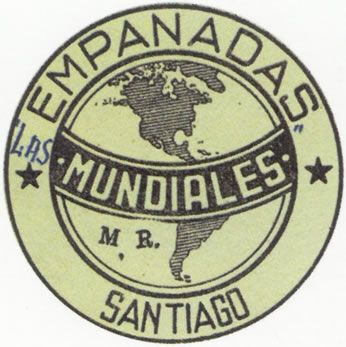 EMPANADAS LAS MUNDIALES    Inscripción de Marca efectuada por el fabricante de empanadas en el año 1940 en la ciudad de Santiago.