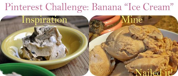 """Pinterest challenge: Can you spell """"ice cream"""" B-A-N-A-N-A-S?: Vegan ice cream made from bananas 