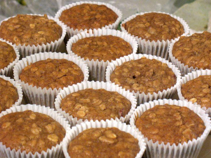 Receta de Muffins de Plátano, Nuez y Yogurt