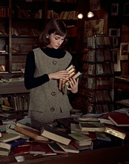 Audrey Hepburn's book store outfit