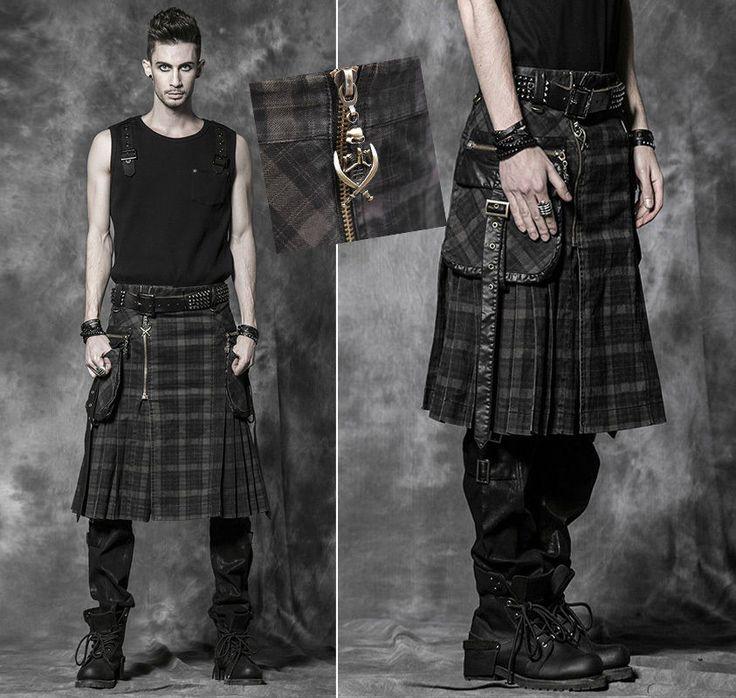 d tails sur jupe homme gothique punk m tal denim pliss e kilt grandes poch punkrave cossais. Black Bedroom Furniture Sets. Home Design Ideas