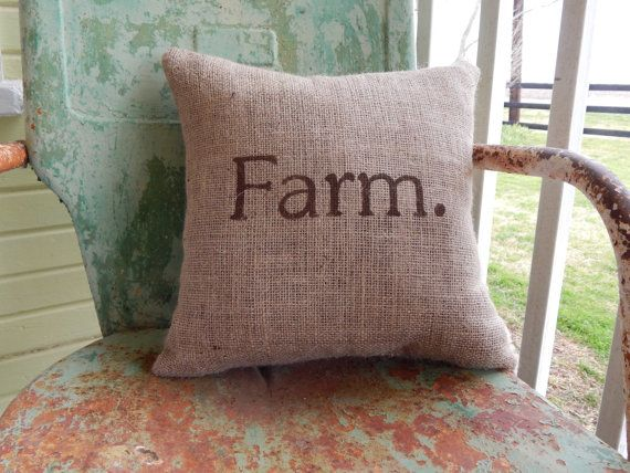 Hey, I found this really awesome Etsy listing at https://www.etsy.com/listing/163255930/painted-burlap-farm-throw-accent-pillow