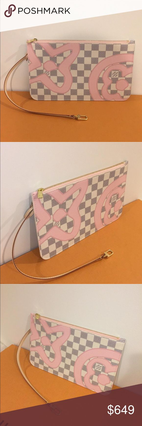 Louis Vuitton Tahitienne rose Neverfull clutch NEW Brand new Tahitienne clutch. Guaranteed Authentic! Clutch only, no box or dust bag. Louis Vuitton Bags