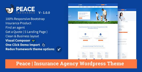 Peace – Insurance Agency WordPress Theme