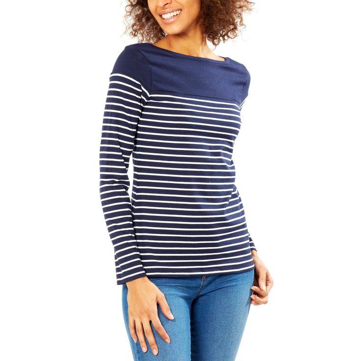 Tee-shirt col bateau Femme - Kiabi -