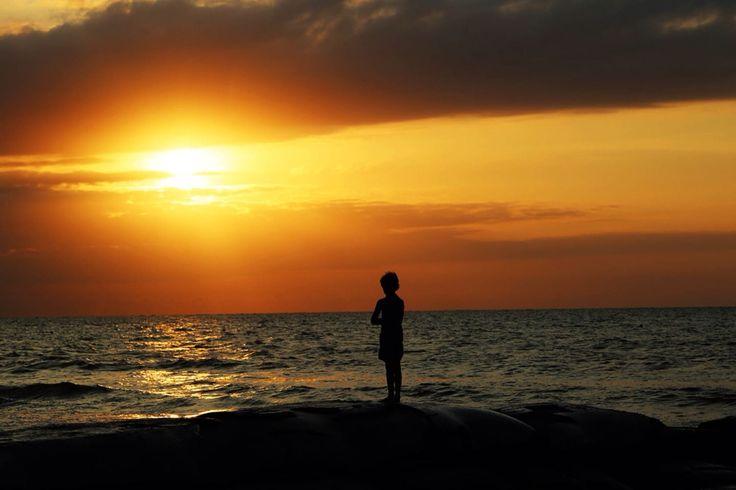 Reflexión con el mar.