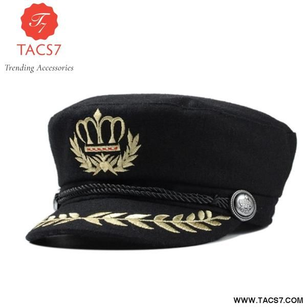 Military Hat Winter Knitted Cap British Style Beret For Women Black Grey Male  Female Casquette Militaire Gorra Plana Trending Accessories 54527b5758e3