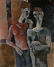 František Ronovský - Přítelkyně - detail díla