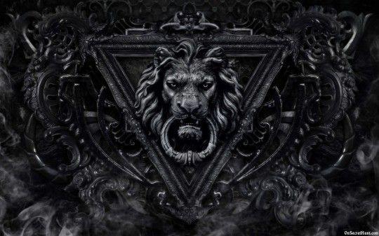 Gothic Lion Black Background