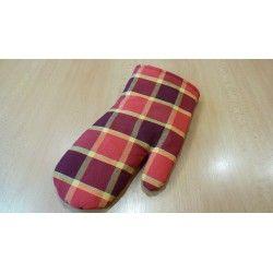 Chňapka rukavice vínovočervená kostka