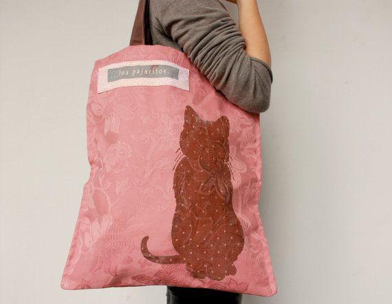 Pink Tote Bag Los Pajaritos Shop  $17.99