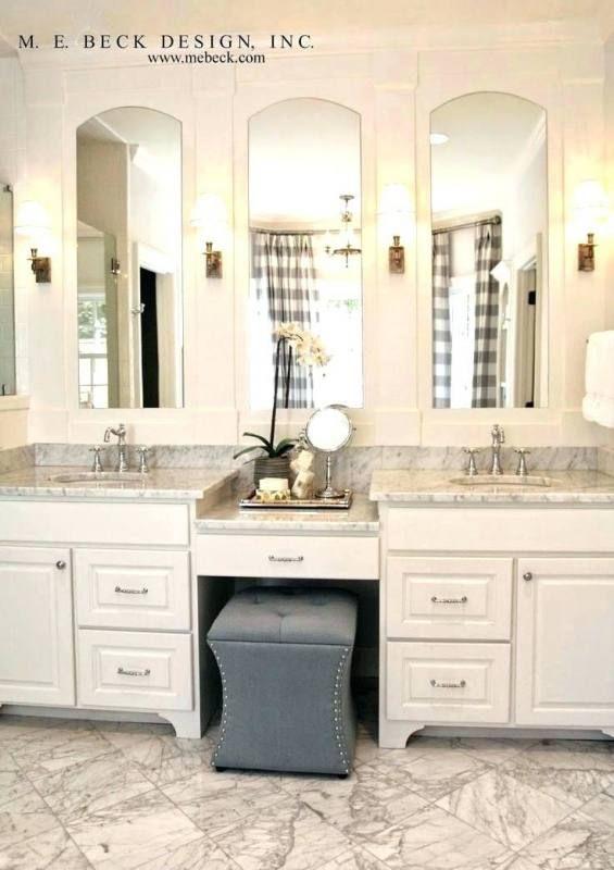 Bathroom Vanity With Makeup Table Double Vanity Bathroom Master Bathroom Vanity Bathroom With Makeup Vanity Bathroom vanity and makeup table