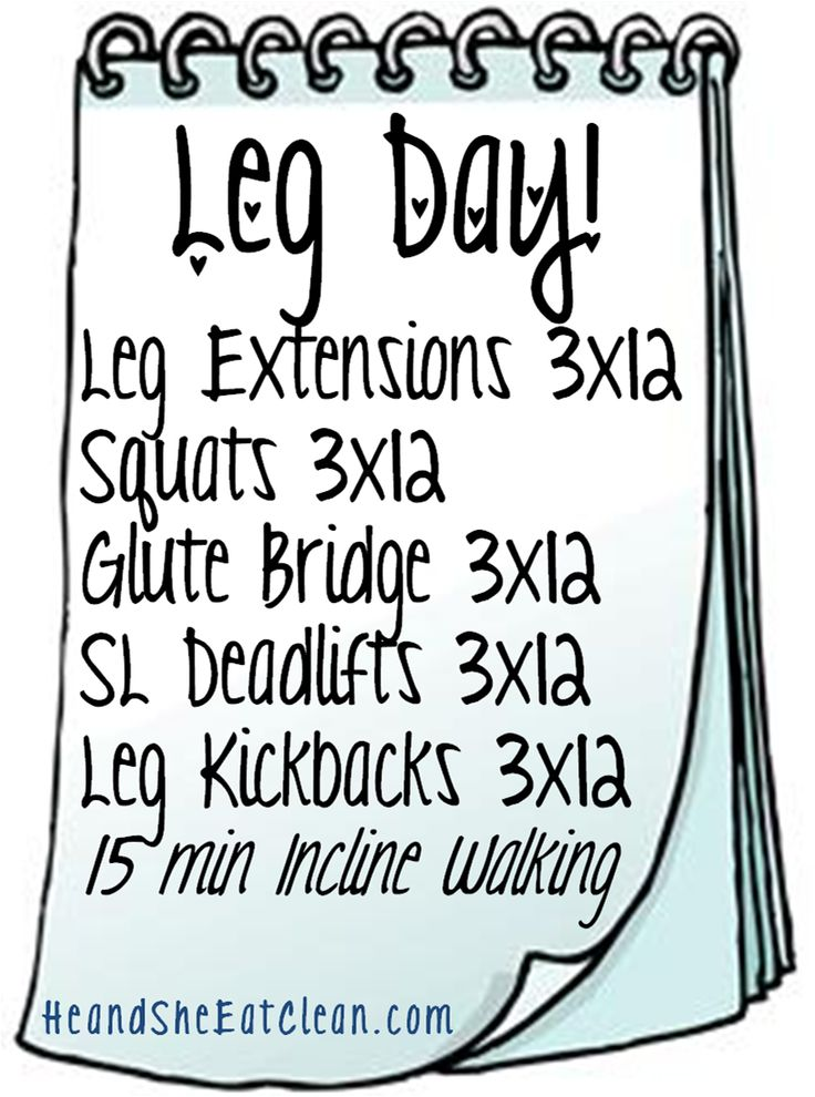 The Workouts! Leg Day! Increase repetitions to 4x20 and change to Drop Sets for those more advanced. GROW your BOOTY!