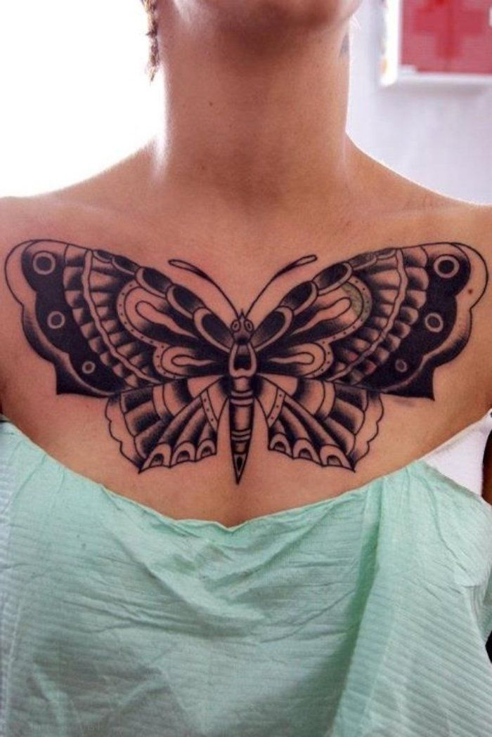 1001 Ideas For Beautiful Chest Tattoos For Women In 2020 Chest Tattoos For Women Tattoos Chest Piece Tattoos