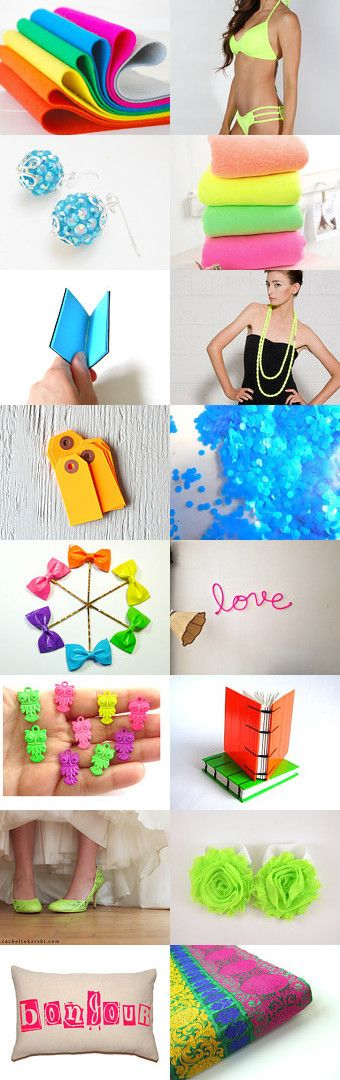 Neon by Ilit Steinfeld on Etsy--Pinned with TreasuryPin.com