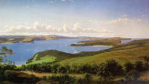 Sydney chefs de Eugene Von Guerard (1811-1901, Austria)