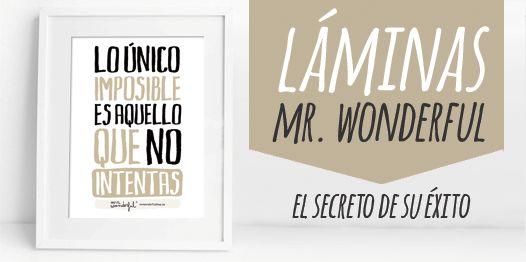 Laminas Mr Wonderful que más triunfan en el mercado