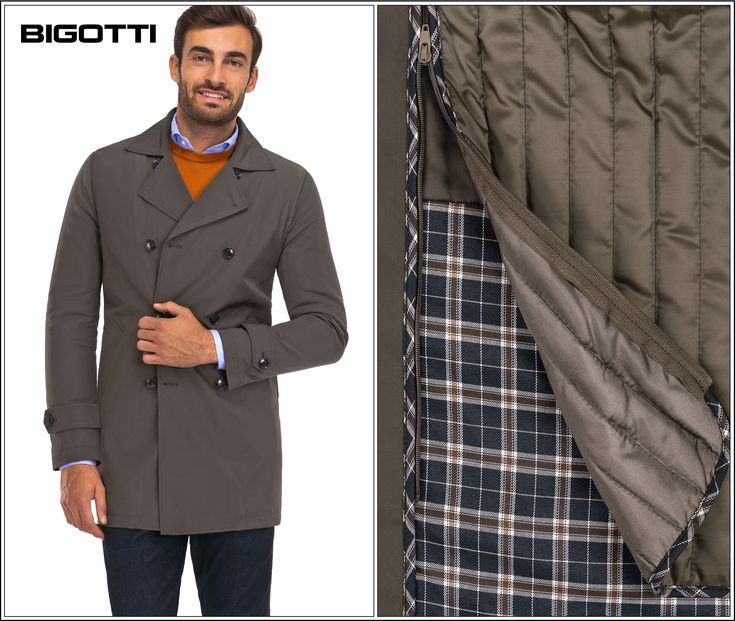 50% OFF #sale The #Bigotti #trenchcoat with a #detachable #quilted #lining can be #worn in #cold #weather, but also during #transitional #months (#spring and #autumn).  www.bigotti.ro