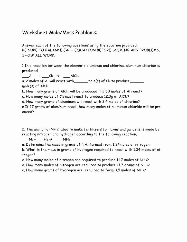 50 Worksheet Mole Problems Answers One Of Worksheet Preschool Kids Ideas To Explore This 50 Worksheet Mole In 2021 Word Problem Worksheets Word Problems Worksheets