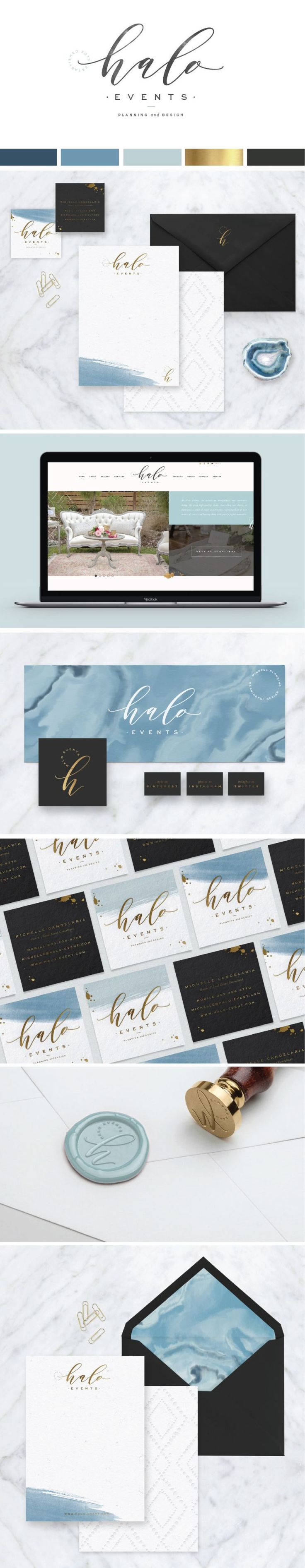 Halo Events :: Logo Design, Brand Board, Website Design - Saffron Avenue…
