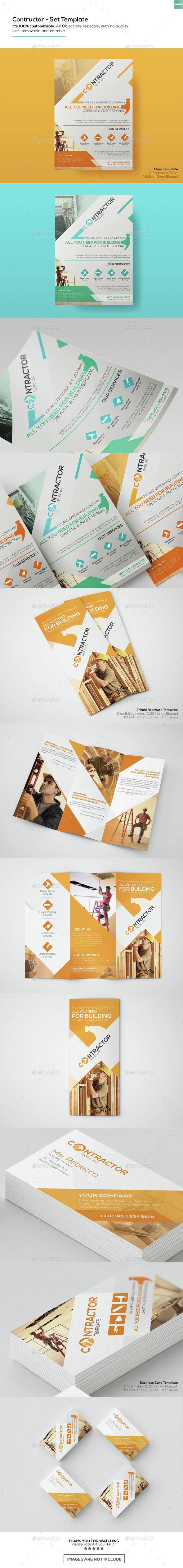 Contractor - Set Templates - Informational #Brochures | Download http://graphicriver.net/item/contractor-set-templates/15314033?ref=sinzo