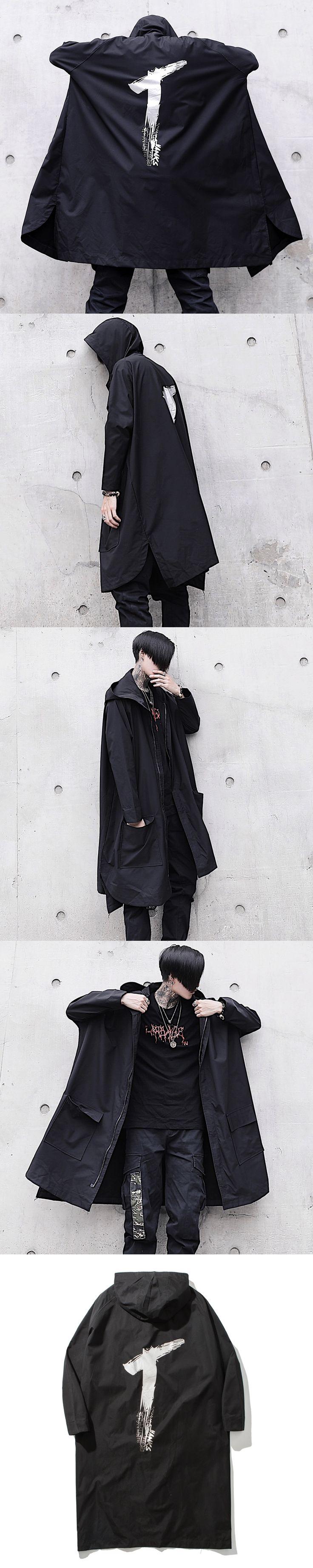 Guocheng INS Street beat trend coat fall personality cloak men bats costumes handsome windbreaker Free shipping
