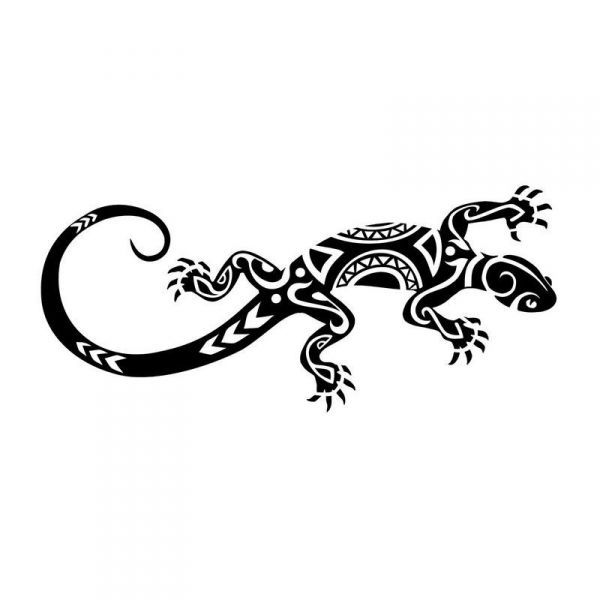 Pochoir Tatouage Grand Lézard Polynesien