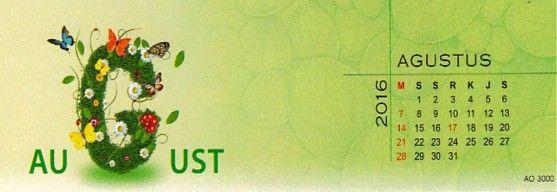 Kalender Meja 2016 Love Nature Exclusive