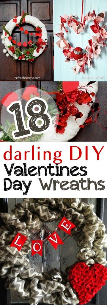 18 Darling DIY Valentines Day Wreaths - Picky Stitch