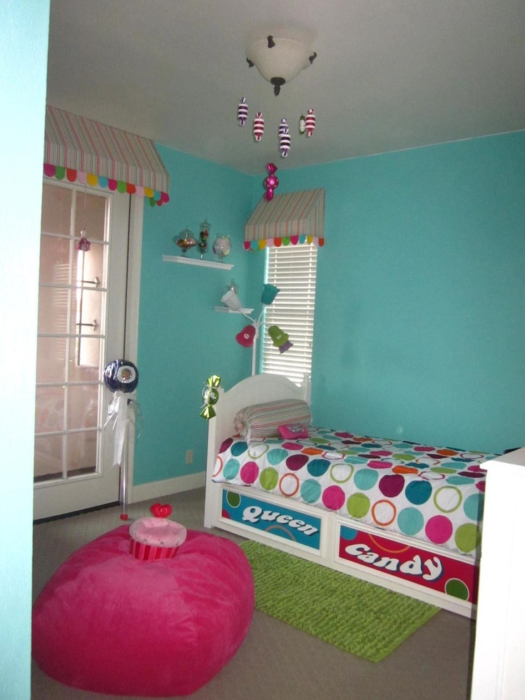 My friend decorated her daughter's bedroom in a Candy theme. She's so creative!